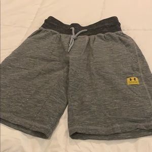 Under Armour gray sweatpant shorts